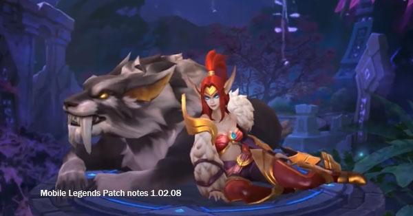 Mobile Legends Patch Notes V 1.02.08