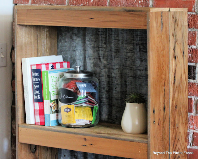 Build a bookshelf from old fencing