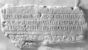 Inscripción del Baptisterio Paleocristiano de Martos
