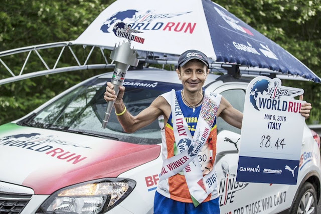 WINGS FOR LIFE WORLD RUN - GIORGIO CALCATERRA