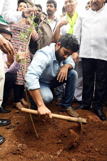Allu Arjun Tree Planting in haritha haram programme
