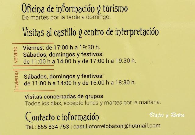 Horarios del Castillo de Torrelobatón