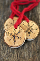 David Deusner DIY Wood Burned Snowflakes