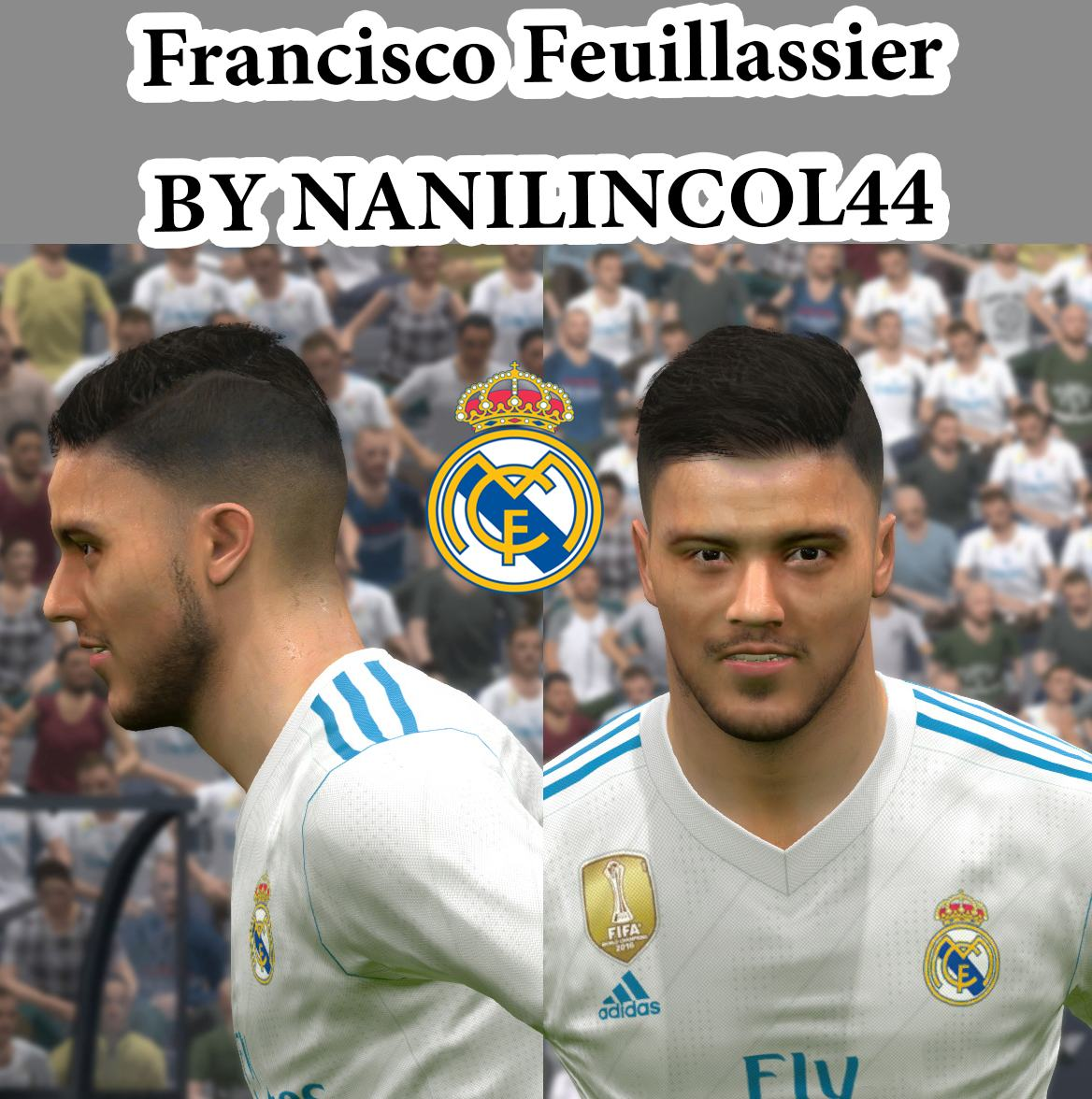 PES 2017 Francisco Feuillassier Face by NANILINCOL44