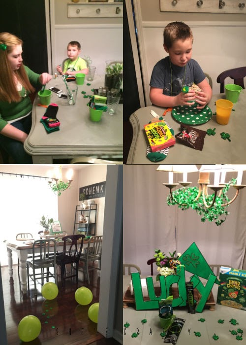 St. Patrick's Day family traditions - table decor, gifts