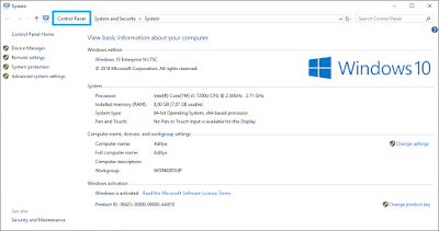 Cara Masuk Control Panel Di Windows 10