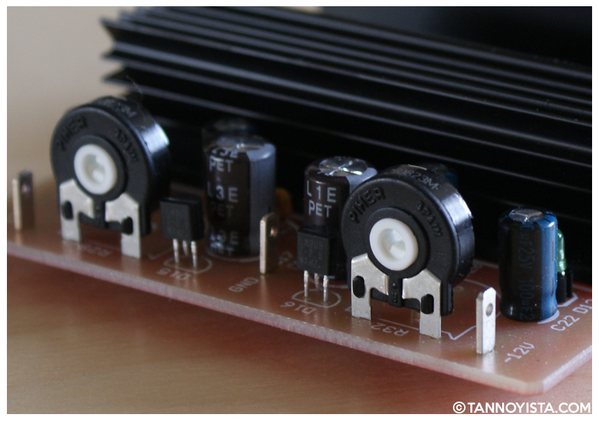 SEPEA Audio Stabiliser card for the A80 Reel to Reel - Close-up adjusters