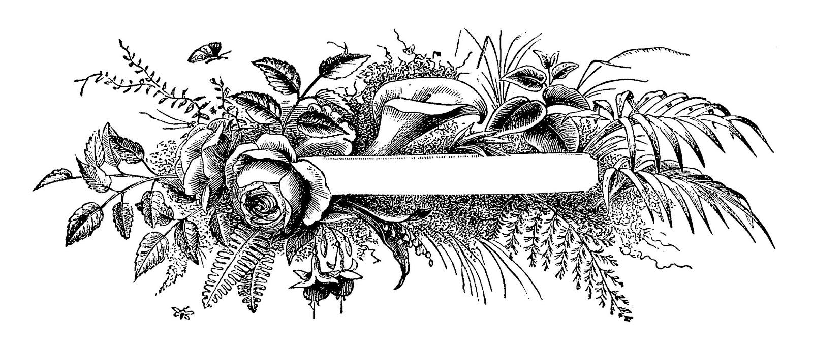 Flower Banner Clipart