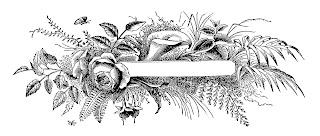 banner digital flower label illustration vintage image