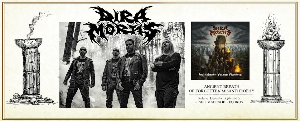 New album Polish death metal band DIRA MORTIS - Ancient Breath Of Forgotten Misanthropy (2020)