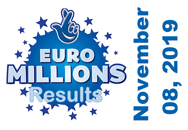 EuroMillions Results for Friday, November 08, 2019
