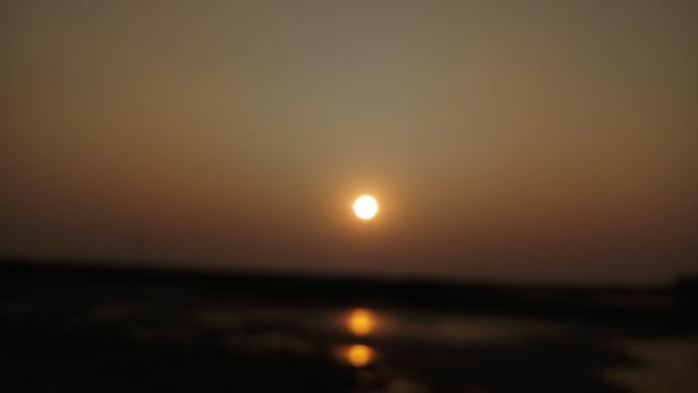 Beautiful focused sun before the evening
