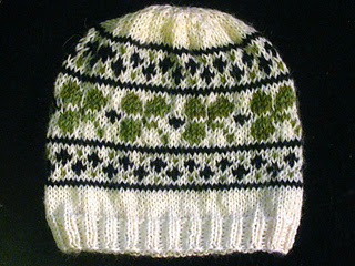 Ravelry pattern for knitted St. Patrick's Day Irish hat for infants, children and adults.