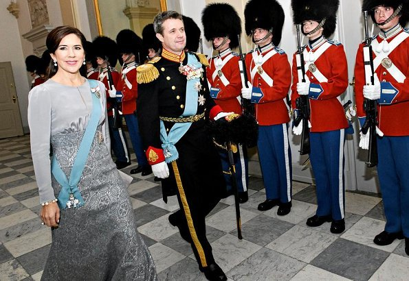 Crown Prince Frederik and Crown Princess Mary were present at the reception at at Christiansborg Castle