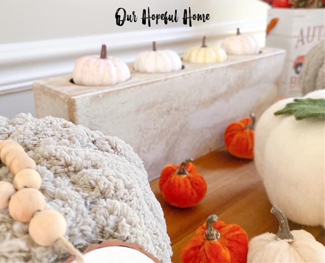 chunky yarn pumpkin white sugar mold mini pumpkins