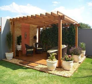 مظلات حدائق خشب
