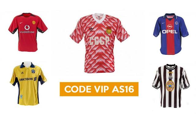 Le site Authentic Shirts proposent un code promo pour acheter des anciens maillots de football