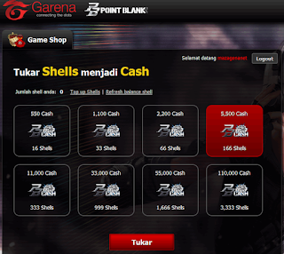 Error Tukar Shell jadi Cash? Solusi Error Isi Cash di PB Garena Indonesia
