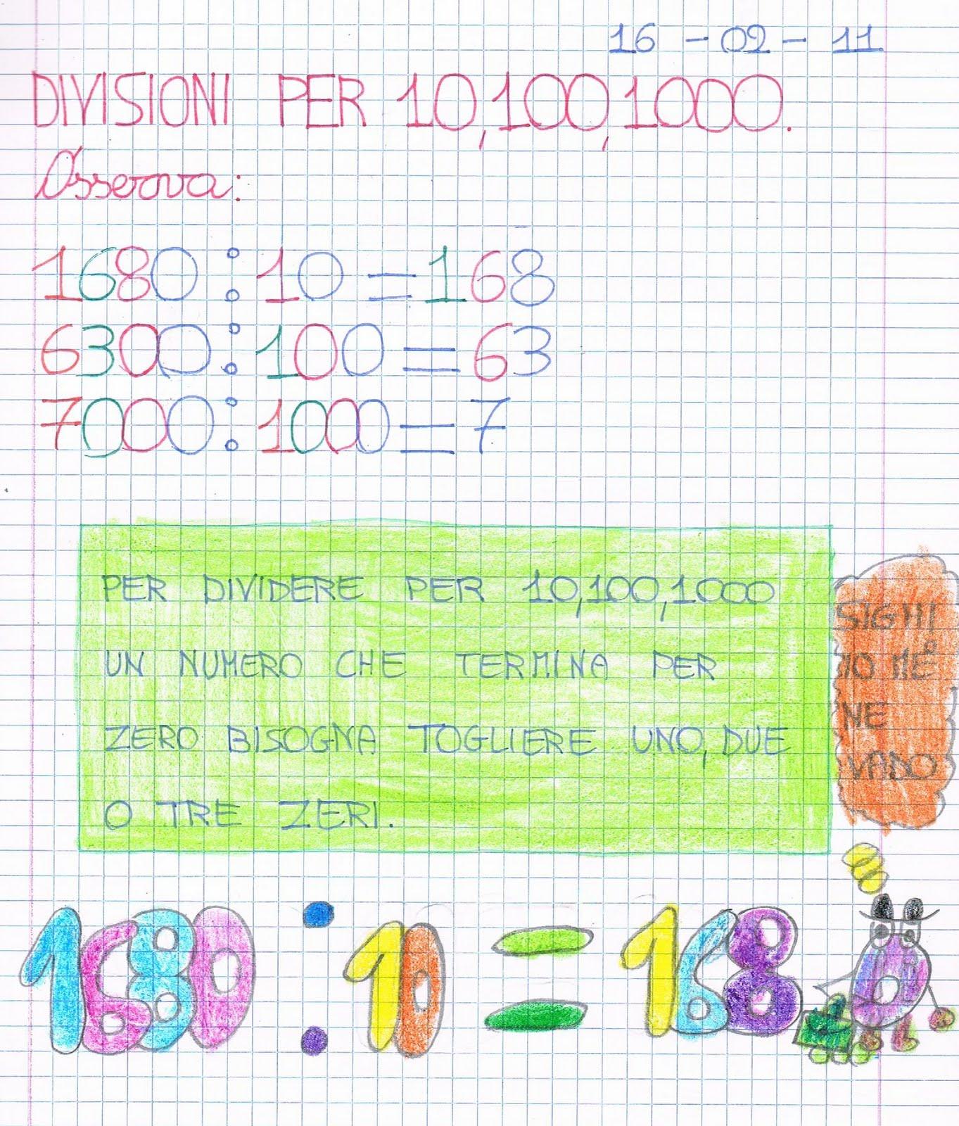 Divisioni Per 10 100 1000