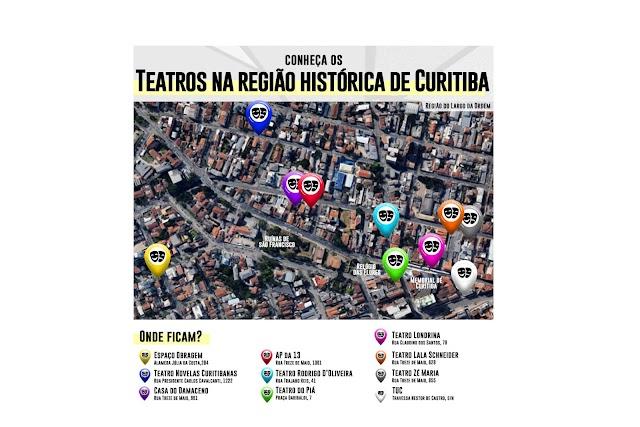 Do público ao privado, centro histórico de Curitiba concentra dez teatros