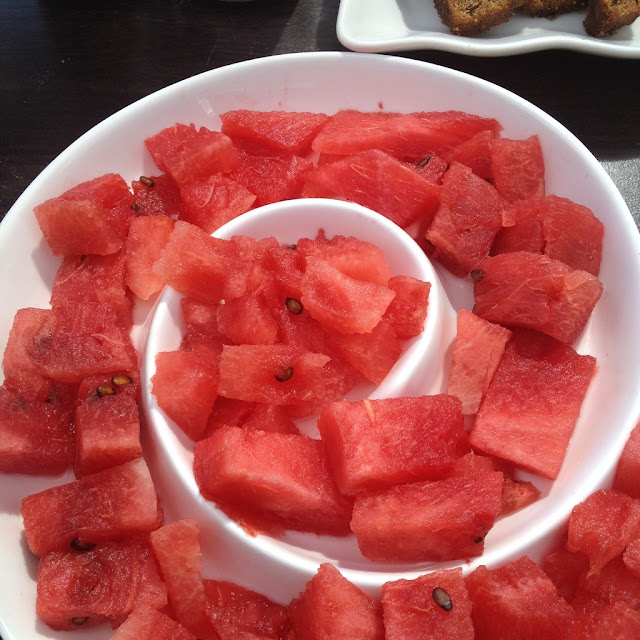 watermelon at the Purple Craves dessert buffet