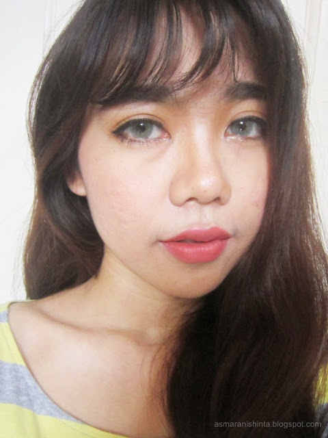review wardah intense Matte lipstick blooming pink