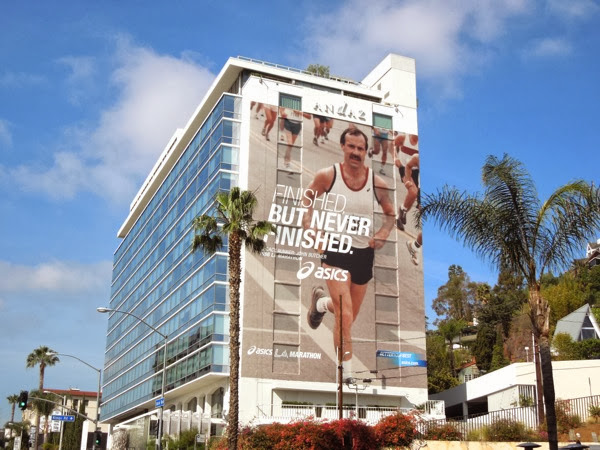 Giant Asics never finished LA Marathon 2014 billboard