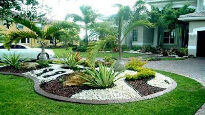 taman kolam bagus: 44 ide cantik taman rumah minimalis