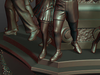 Details of sculptures of lower pairs - legs and shoes - 4