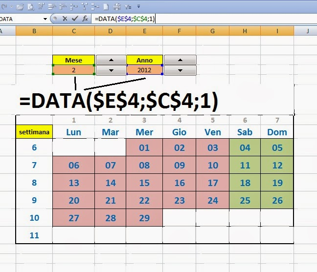 Calendario Perpetuo Per Anno.Excel Easy Excel Facile Come Fare Un Calendario 2017