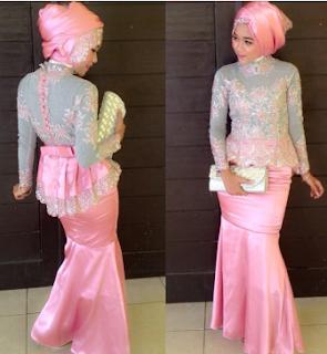Model Jilbab Untuk Kebaya Wisuda