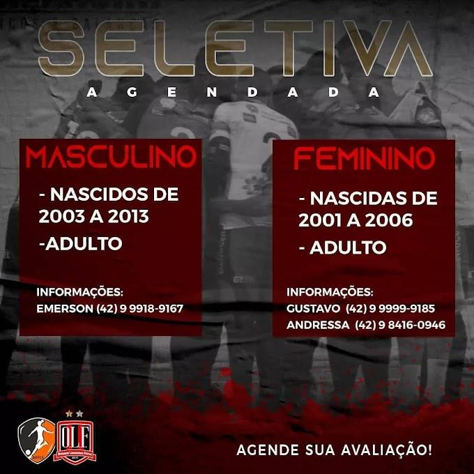Operário Laranjeiras Futsal realiza seletiva agendada para futuros jogadores