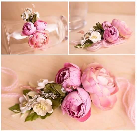 BabySweetStories - photo props - newborn, sitter floral headband