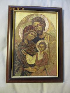 Haftowane Pasje Ikona święta Rodzina