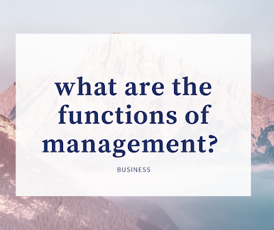 what are the functions of management