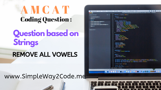 Remove all vowels from the given String | AMCAT Automata Question | AMCAT Coding Question