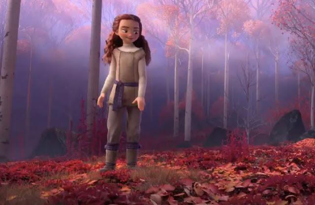 Gambar Frozen 2 Sosok Misterius Wanita Berambut Merah Panjang Misteri Kuno Arendelle
