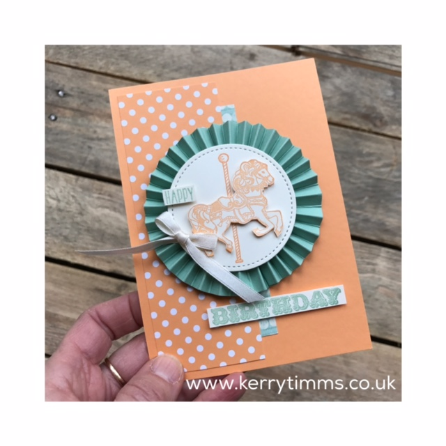 kerry timms carousel birthday handmade card papercraft creative scrapbooking cardmaking class gloucester hobby craft create community share