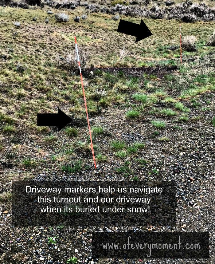 Driveway markers, Montana driveway