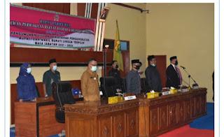 DPRD Gelar Paripurna Penetapan Kepala daerah Kabupaten Lingga 2021-2024