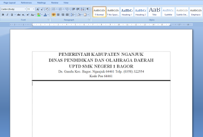 Cara Membuat Logo di Samping KOP Surat MS Word 2007/2010