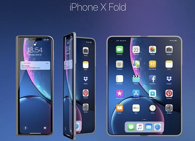 FLAPPLE: Apple 'building a FOLDING iPhone' as patent shows gadget that folds twice to rival Samsung and Huawei