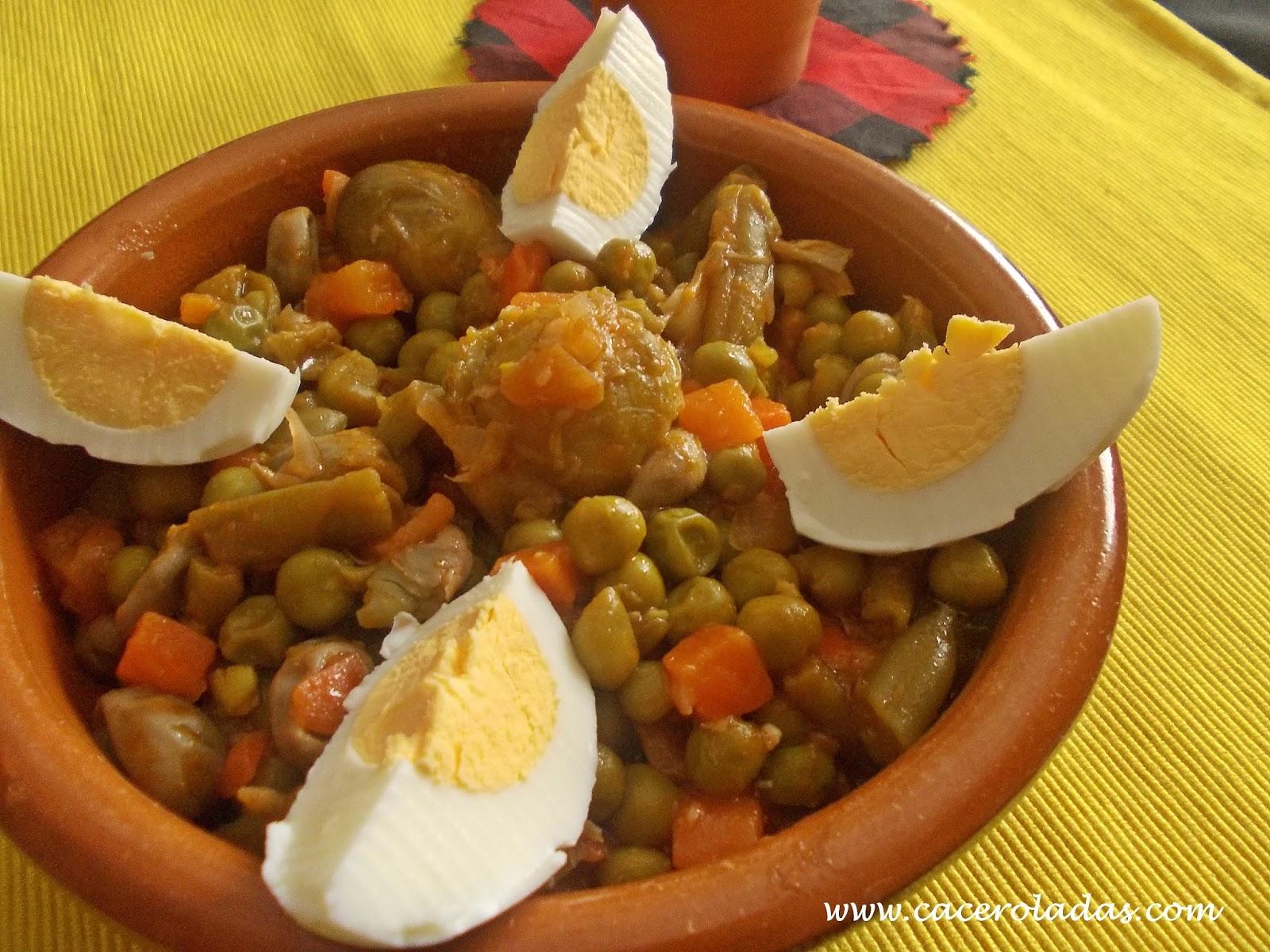 Menestra de verduras rehogadas caceroladas - Menestra de verduras en texturas ...
