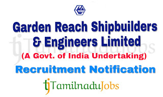 GRSE Recruitment notification of 2018, govt jobs for diploma