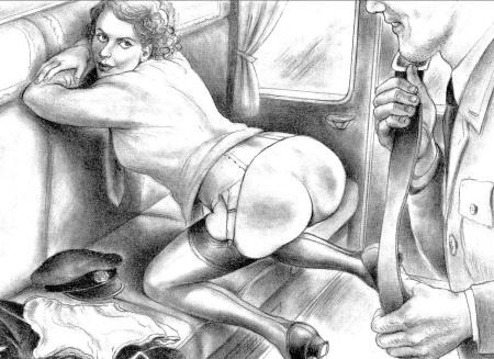 naughty boy spanking drawing