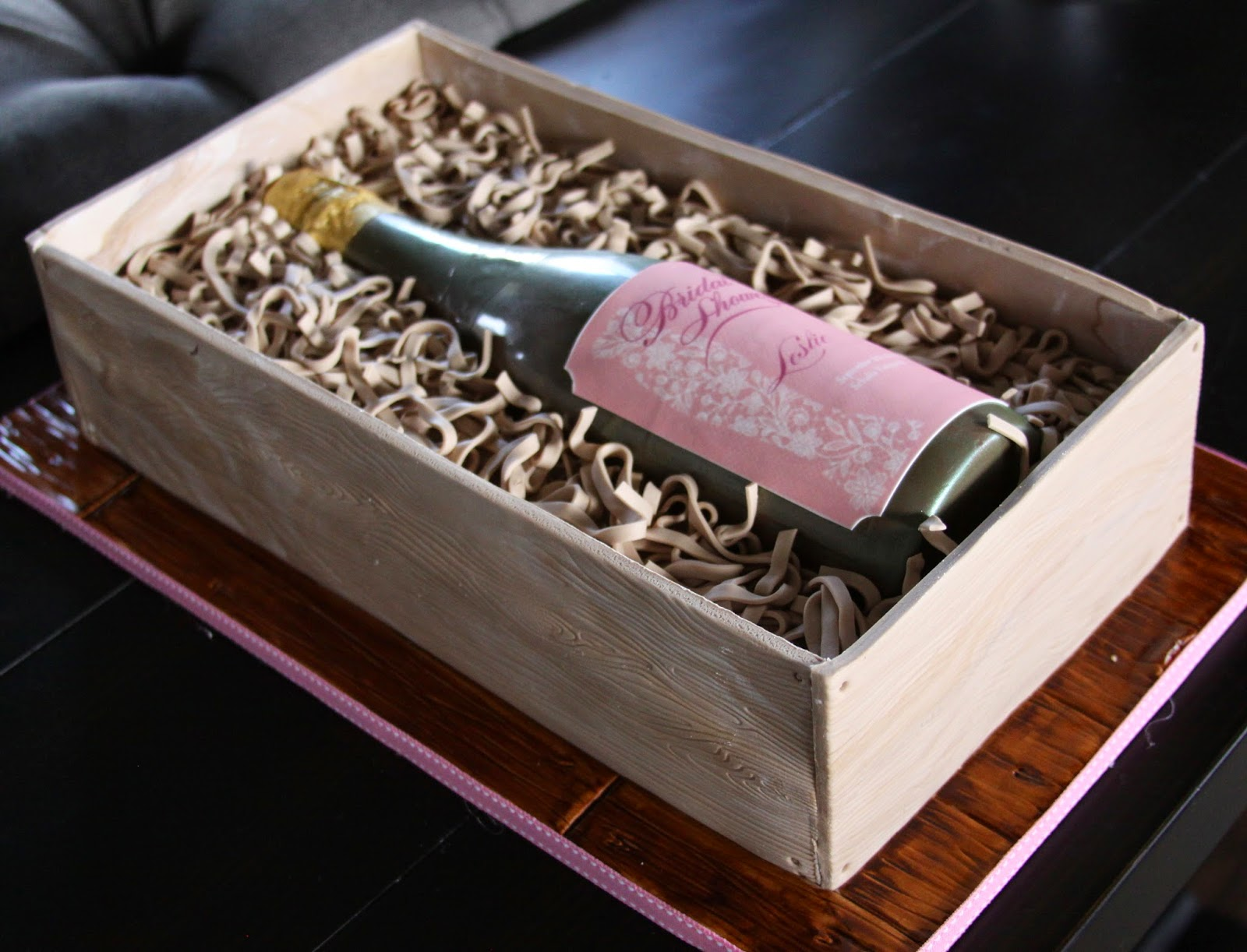 how to make a champagne bottle cake