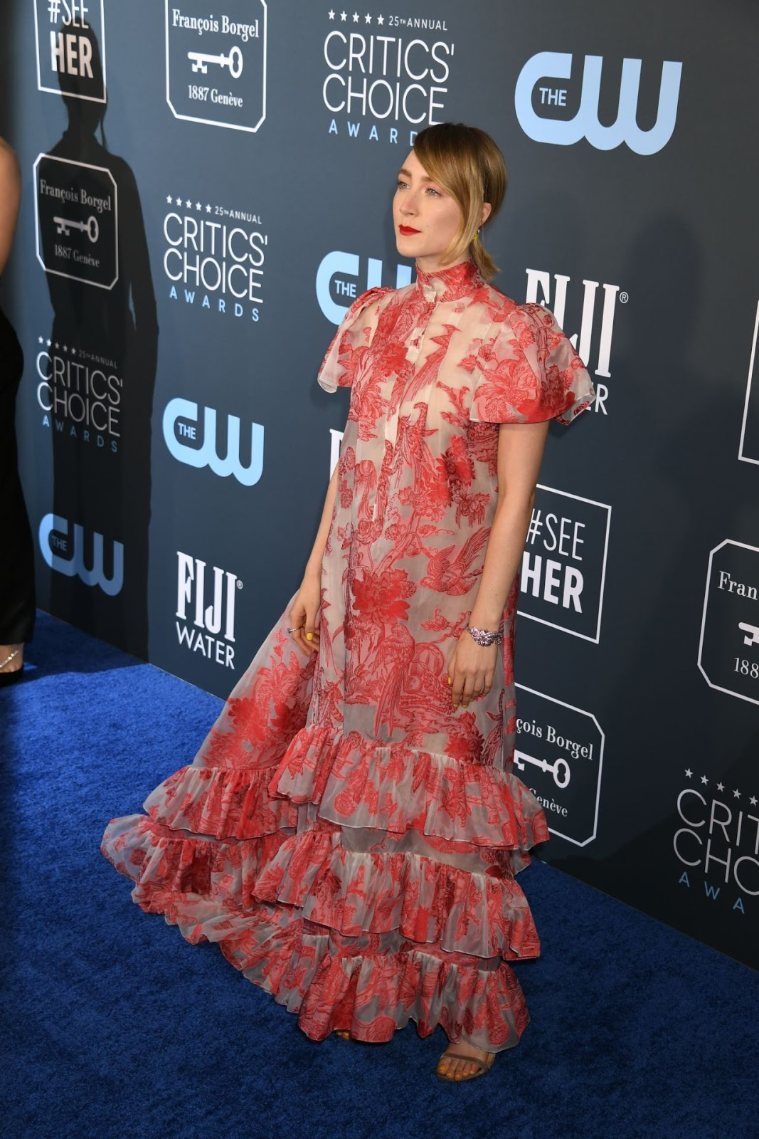 Saoirse Ronan Wears Erdem To The Critics' Choice Awards 2020