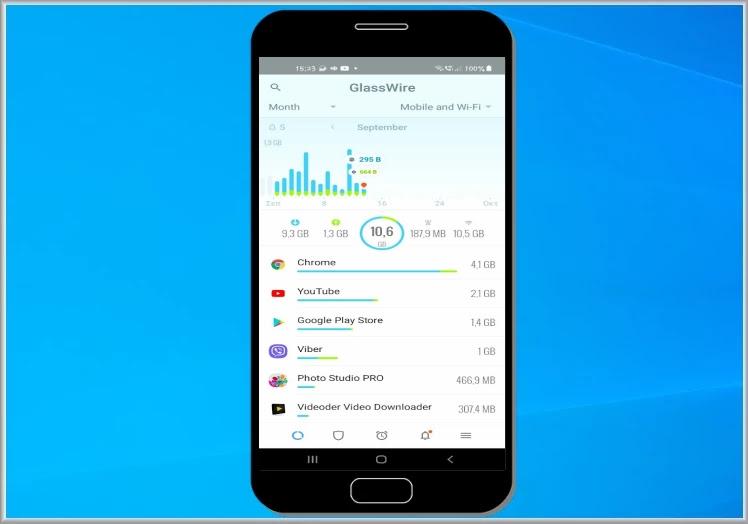 GlassWire Data Usage Monitor : Μετρήστε την κατανάλωση των δεδομένων σας