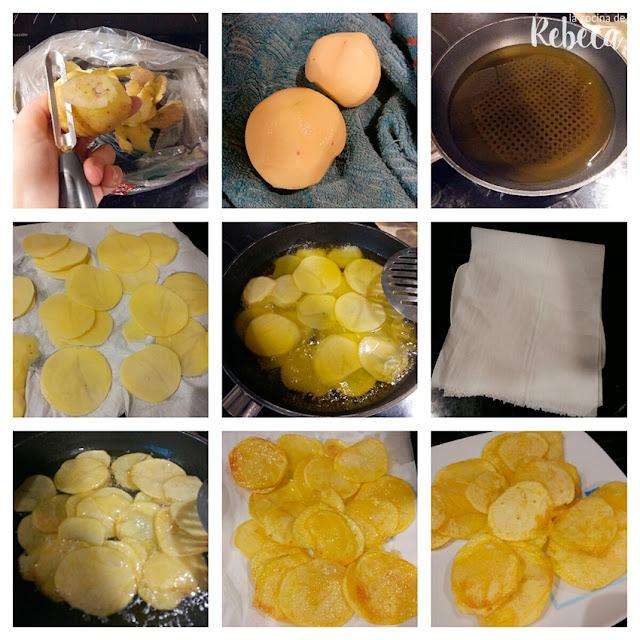 Receta de huevos rotos con jamón 02