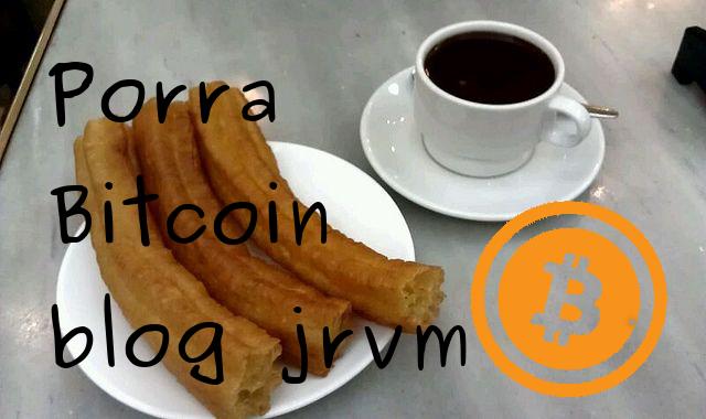 Plato con porras y chocolate y símbolo de bitcoin